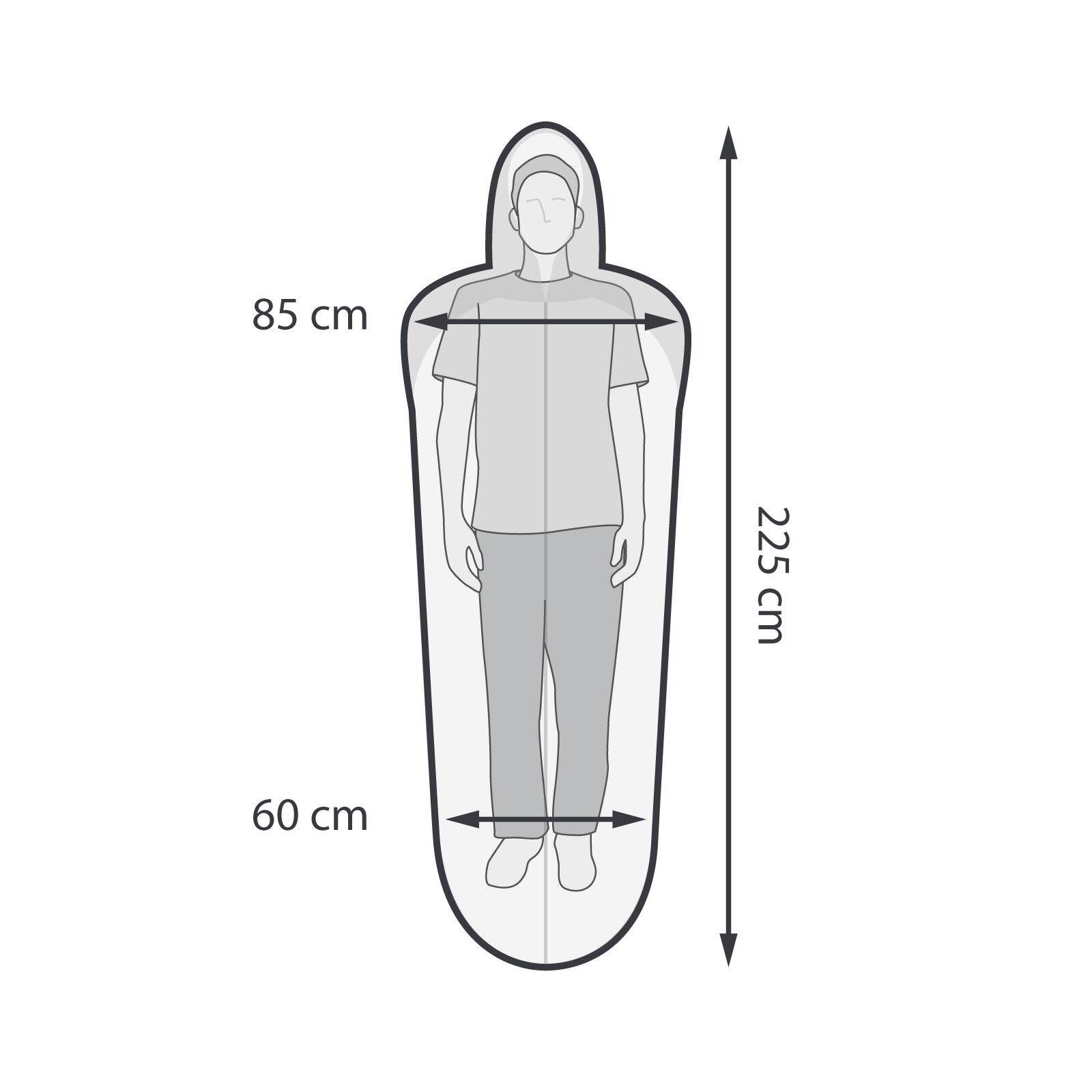 Schlafsack QEEDO Lenny Hüttenschlafsack funktional ultraleicht Inlay Kapuze