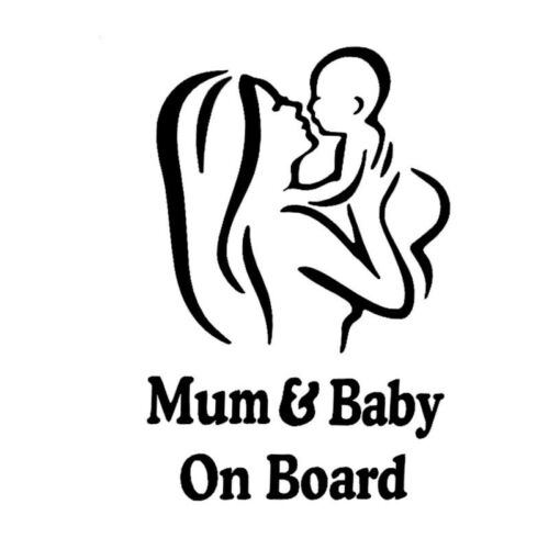 1pc Mum and Baby Car Warining Stickers Decal Waterproof Paster 12*18cm 2019