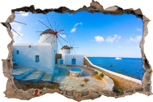 murales decoración Molinos de viento mar sorprendentes-gran avance en la 3d-look