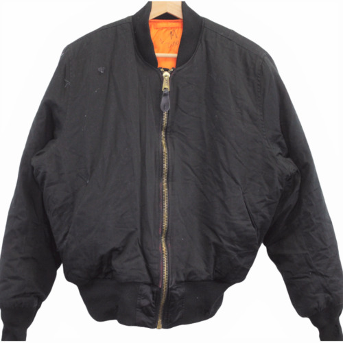 R14 Vintage Alpha Industries Bomber Black Jacket F
