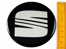 SEAT ★ 4 Stück ★ SILIKON Ø90mm Aufkleber Emblem Felgenaufkleber Radkappen