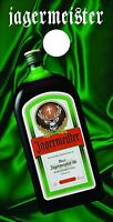 Corn Hole Graphic- Jagermeister Bottle On Green Silk (single Graphic)