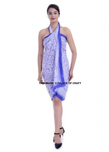 Purple//green Abstract print beach wrap scarf sarong//pareo swimwear cover up new