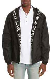 990891c7b Details about Moncler Men's Massereau Logo Hooded Black Zip Jacket Size 4  (XL) $1350