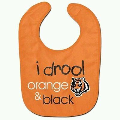 WinCraft Chicago Bears I Drool Navy /& Orange Mesh Baby Bib