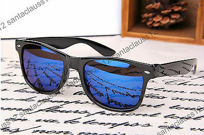 Wayfarer Sunglasses Black Glossy Frame Classic Vintage Retro Mens Womens UV400