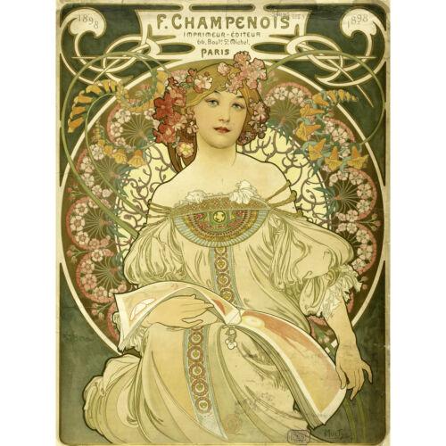 Mucha Champenois Printer Printing Nouveau Advert Extra Large Art Poster