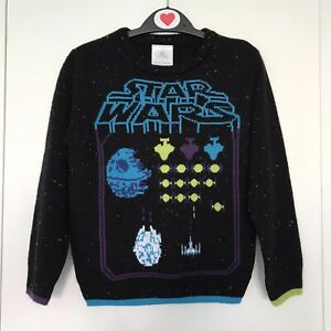 Vintage-Star-Wars-Boys-Disney-Jumper-Age-4-Knitted-Sweater-Girls