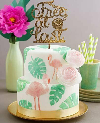 Break Up Party,... Divorce Party Just Divorced JennyGems Cake Topper