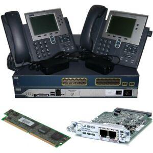 Details about Cisco CCNA Voice Collaboration Lab Kit 2811 CME + FXO Card +  PVDM2 3560 + 7940