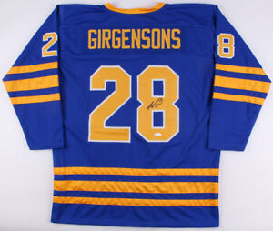 ed5821c9838 Zemgus Girgensons Signed Sabres Jersey (JSA Holo) 14th Overall Pick ...