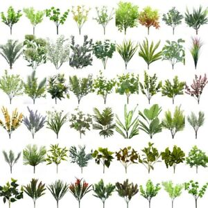NEW-Artificial-Fake-Leaves-Bunch-Greenery-Foliage-Leaf-Vine-Green-Home-Decor