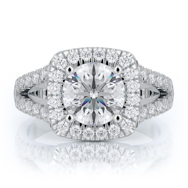 1.45 Ctw Round Ring H Si2 White Gold 14k Lab Grown Igi Certified Made To Order Engagement & Wedding