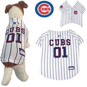separation shoes 26913 45bc1 Details about MLB Pet Fan Gear CHICAGO CUBS Dog Jersey Shirt Tank for Dogs  BIG SIZE XS-2XL
