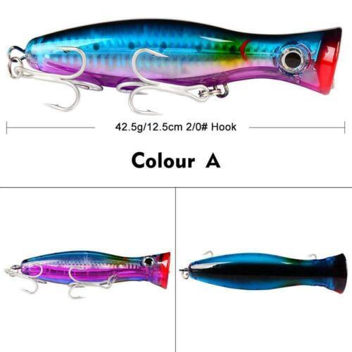 1PCS Popper Fishing Lure 6 Colors Top Water Crankbait Pesca Wobbler E2C1