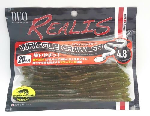 Duo Realis Wriggle Crawler 4.8inch F006 Watermelon Red Flakes 20pcs//pack