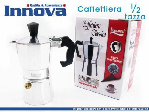 Caffettiera Moka Macchinetta Caffè Espresso Napoletano Misura 1//2 Tazza hmj
