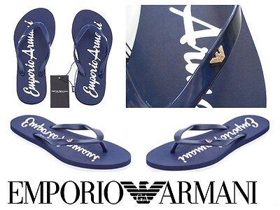Mens Flip Flops Emporio Armani Logo