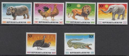 ANIMALS : BURUNDI 1991 Animals set SG1495-1500 MNH