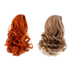 2 Pieces 28cm Hair Doll Wig for 18/'/' AG American Doll Dolls DIY Making Accss