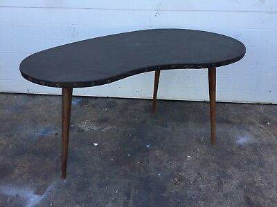 Outstanding Free Form Vinyl Wrapped Coffee Table Mid Century Modern Vintage Ebay Bralicious Painted Fabric Chair Ideas Braliciousco