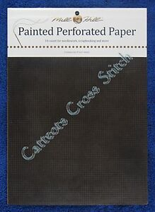 Perforated-Paper-for-Cross-Stitch-Midnight-Black-14-Count-Mill-Hill-Painted