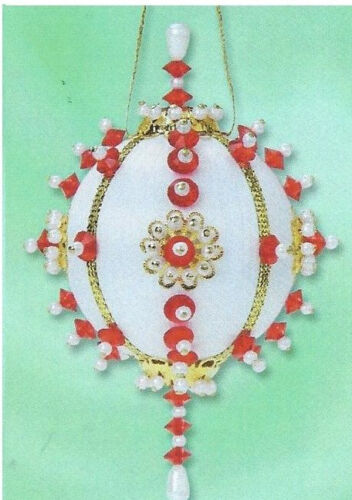 """/""""Cherries Jubilee/"""" or /""""Wintermint/"""" each kit makes 2 Satin red or blue Ornaments"""