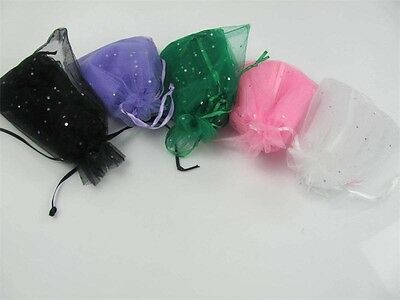 50 Organza Silk drawstring Gift Bag Jewelry Packing Pouch Wedding Favor Gift Bag