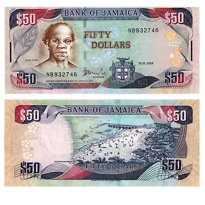 Considerate Jamaica 50 Dollars 2007 Pick New Unc Karibik / 3610947##