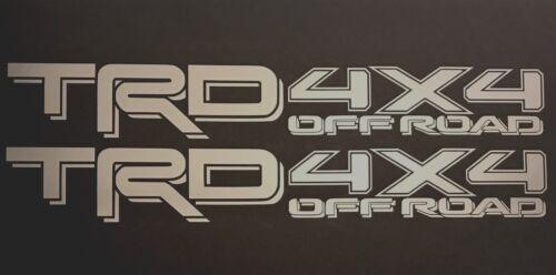 2 TRD OFF ROAD TOYOTA RACING DEVELOPMENT TACOMA TUNDRA TRUCK 4X4 DECAL STICKER