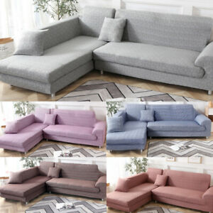 Sofa-Covers-For-L-Shape-Sectional-sofa-2pcs-Polyester-Fabric-Stretch-Slipcovers