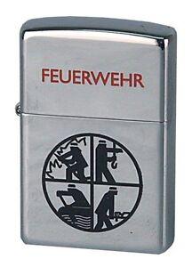 ZIPPO-Benzin-Feuerzeug-Feuerwehr-Logo-schwarz-NEU-in-Deutschland-PORTOFREI