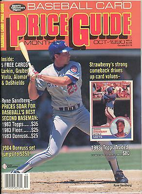 Vintage October 1990 Baseball Card Price Guide Ryne Sandberg Chicago Cubs Cover Ebay