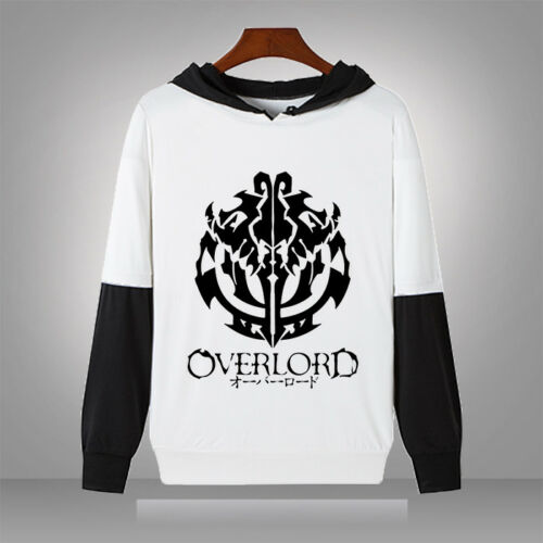 Overlord ainz ooal Robe Unisexe Manches Longues À Capuche Punk Harajuku T-shirt Hauts #01