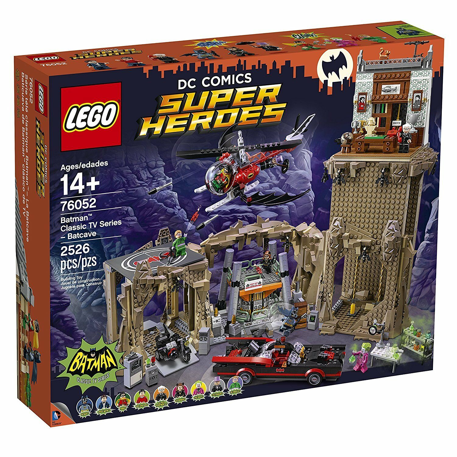 Lego® Super Heroes 76052 Baticueva de Batman clásico de TV  - New - Sealed