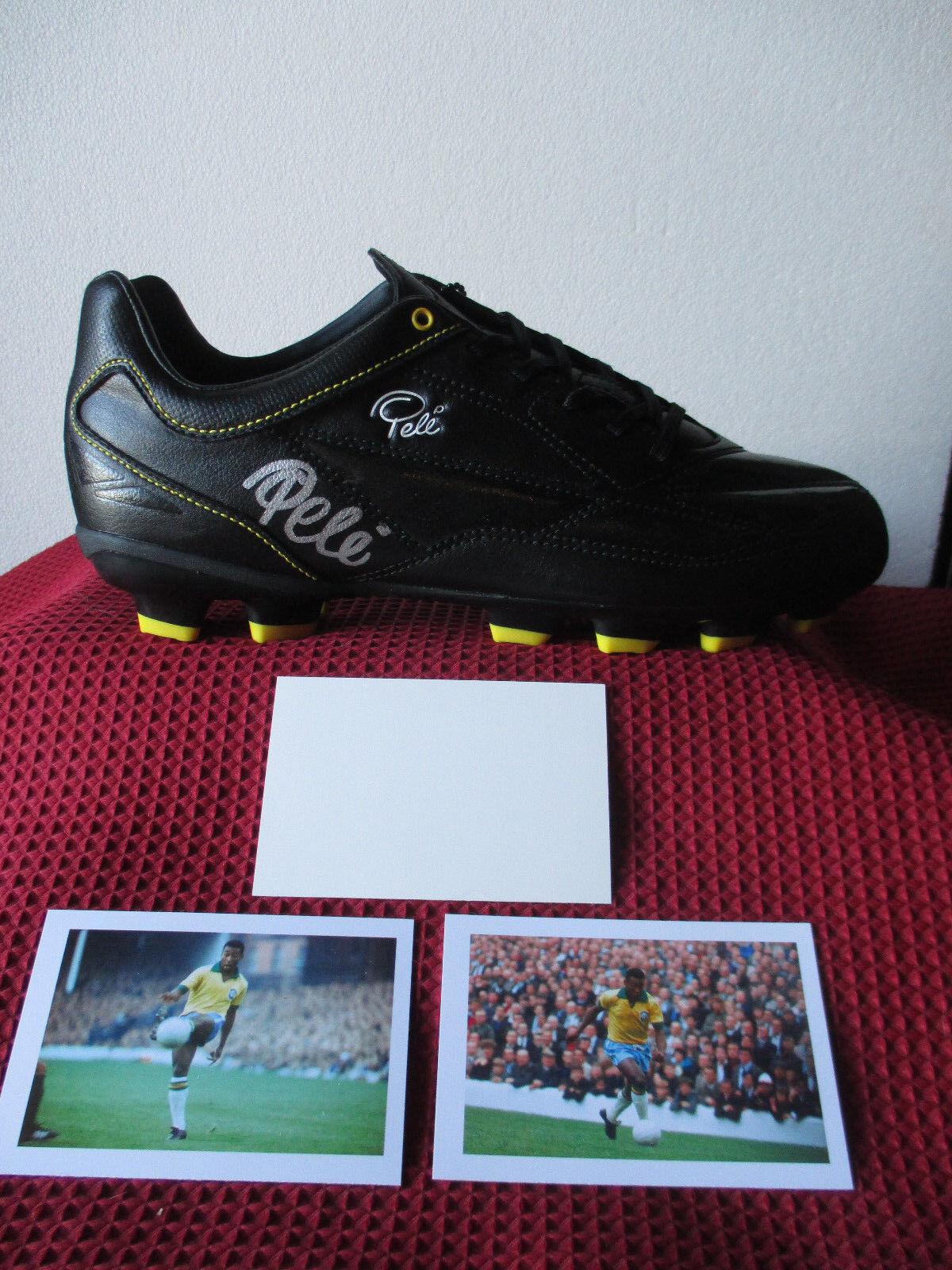 Brasil Legend  Pele  Genuine & personalmente firmado coincide con bota-foto prueba