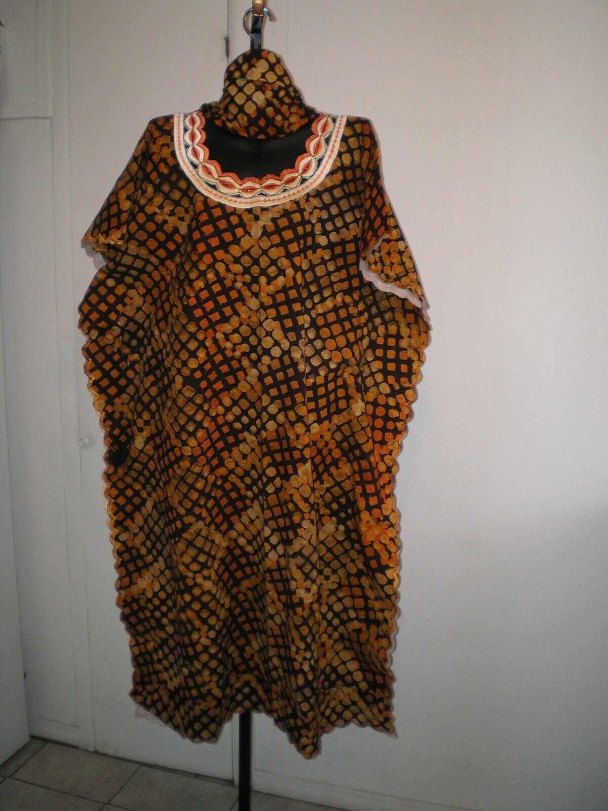 African Clothing Women Caftan Kaftan Dashiki Dress Embroidery  2Pc