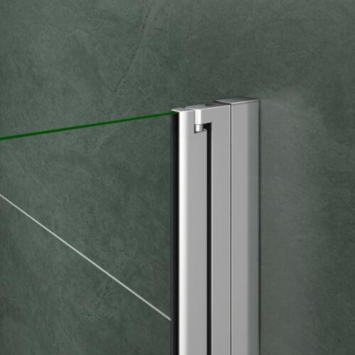 Duschkabine Duschabtrennung Schwingtür 180° Eckeinstieg NANO Glas rahmenlos 185H