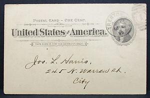 US-Postal-History-Porto-Card-Trenton-Council-Chamber-1896-GS-USA-post-H-7741