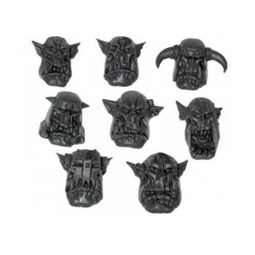 Ork Nobz Nob 8 x HEADS 40K
