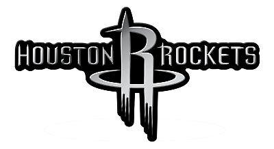 Houston Rockets RICO CE Silver Chrome Color Raised Auto ...