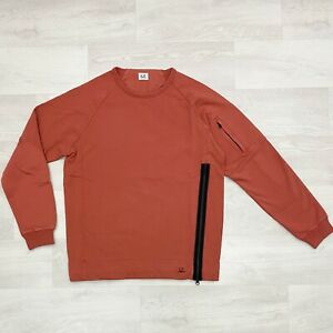 CP-COMPANY-Crew-Neck-Zipped-Garment-Dyed-Sweatshirt-Col-Pureed-Pampkin-RRP225