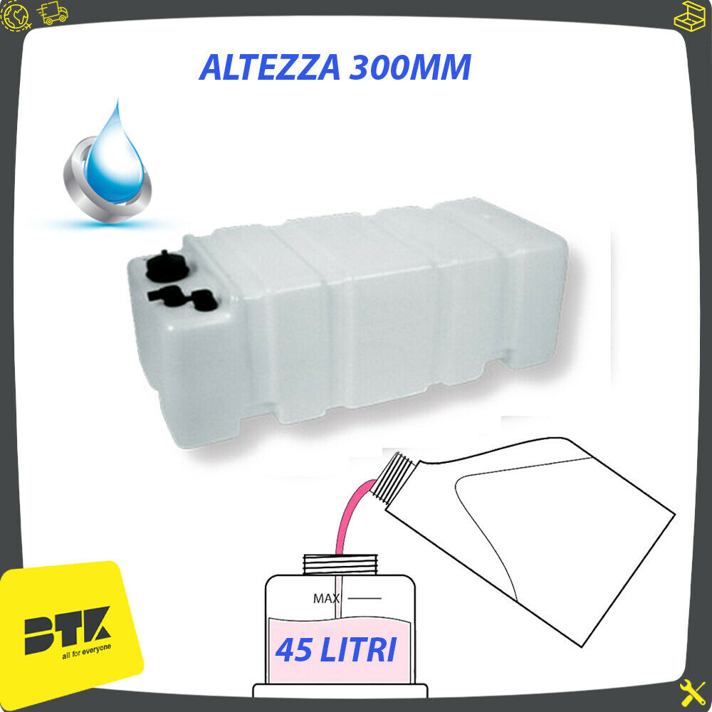 Weiß water tank 45 litres Horizontal for Boat Sail Boat Camper Car
