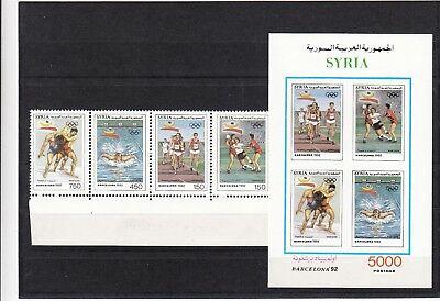 Aktiv Syrien, 1992 Olympische Sommerspiele 1863-66, Block 78 **, (24989) 100% Original