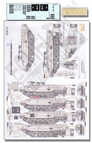 "#D356178 Echelon 1//35th Scale IDF Achzarit /""Cruel Lady/"" Early Version Pt. 2"