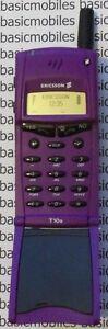 Ericsson T10 Violet Mannequin Modèle D'écran Non Fonctionnel Téléphone Mobile-afficher Le Titre D'origine
