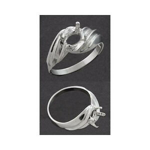 8x6mm-Oval-Side-Swirl-Solid-Sterling-925-Ring-Setting-Ring-Size-7