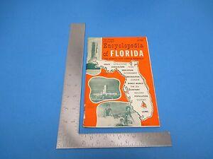 Vintage 1969 Encyclopedia Of Florida Jim Weakly Famous Peninsula Booklet S2414