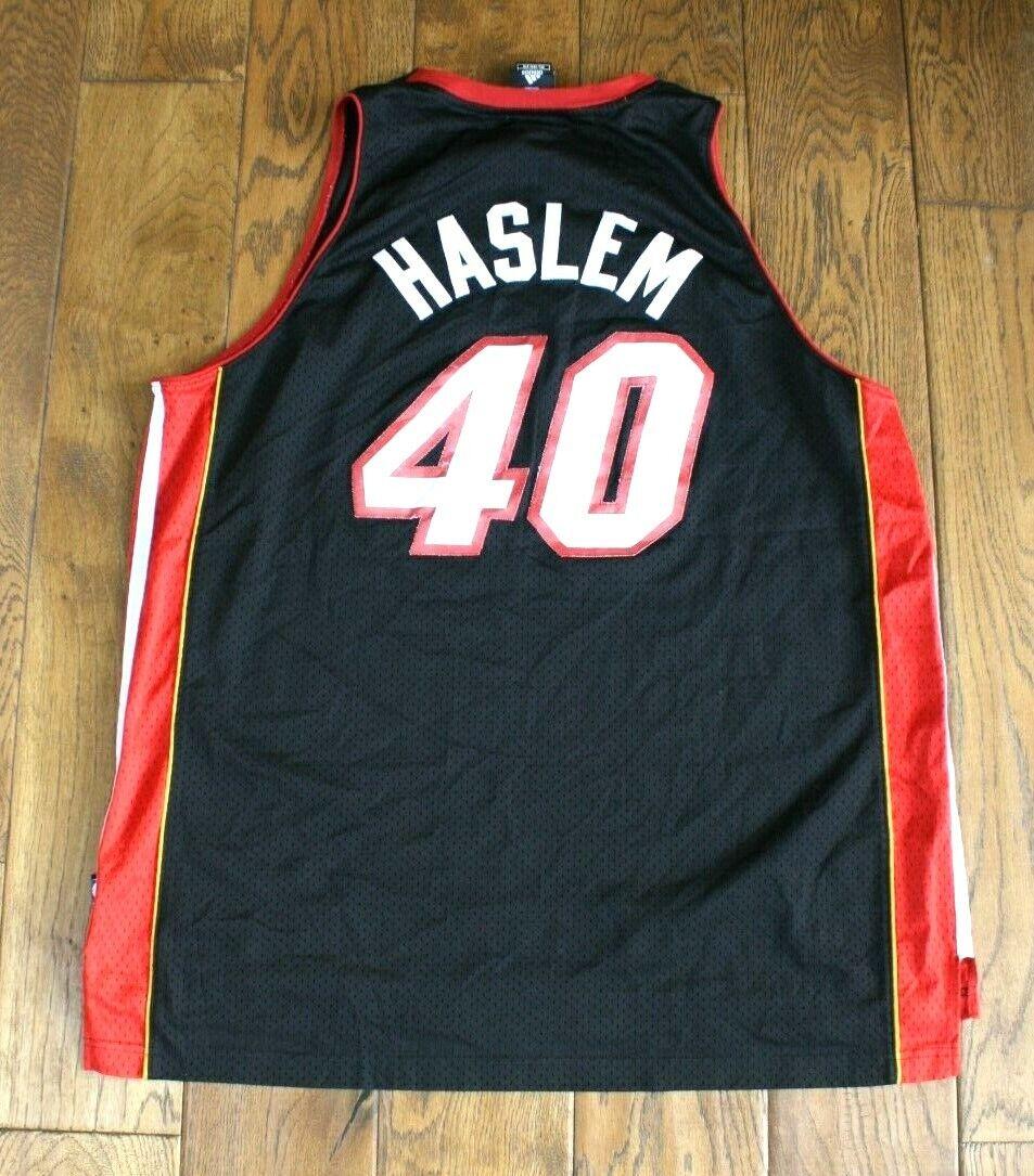 Rare Adidas Miami Heat Haslem 40  Basketball Shirt Größe XXL
