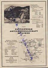 MÜNCHEN, Werbung 1931, Bayernwerk AG Energie-Lieferung